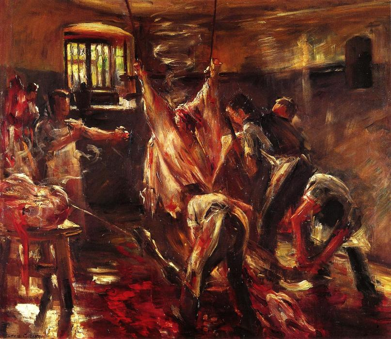 Order Museum Quality Copies | In the Slaughter House, 1893 by Lovis Corinth (Franz Heinrich Louis) (1858-1925, Netherlands) | WahooArt.com