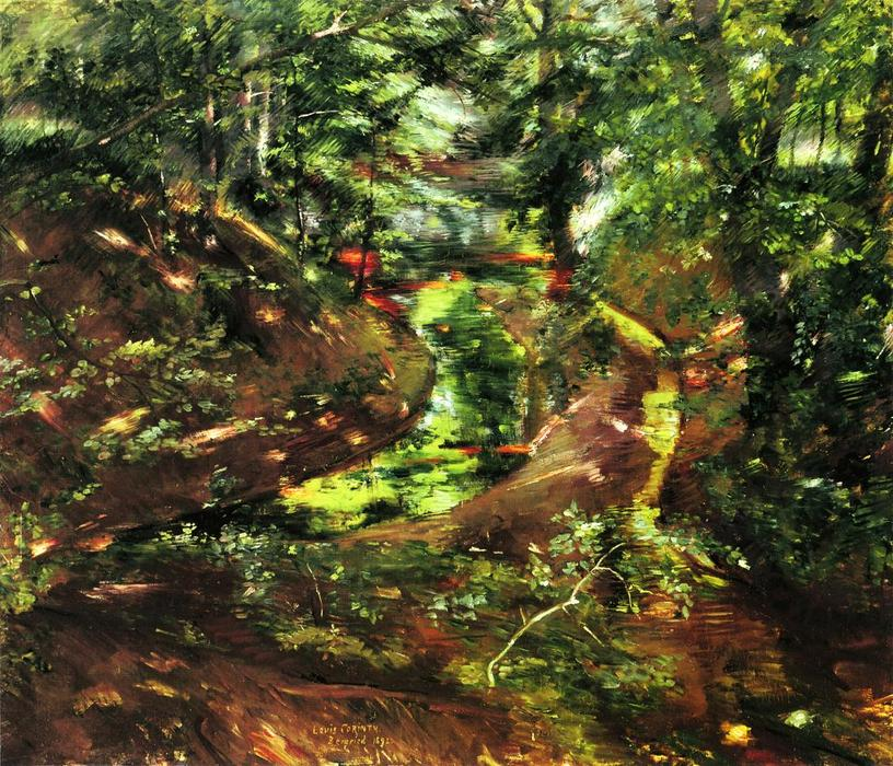 In the Woods near Bernried, 1892 by Lovis Corinth (Franz Heinrich Louis) (1858-1925, Netherlands) | Famous Paintings Reproductions | WahooArt.com
