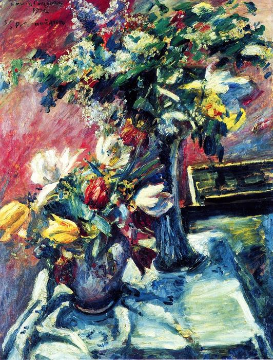 Lilac and Tulips, Oil On Canvas by Lovis Corinth (Franz Heinrich Louis) (1858-1925, Netherlands)