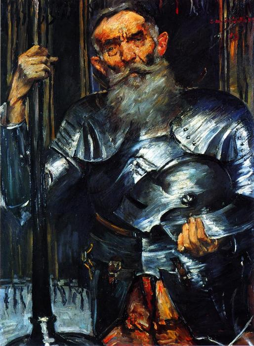 Old Man in Armour, 1915 by Lovis Corinth (Franz Heinrich Louis) (1858-1925, Netherlands) | Painting Copy | WahooArt.com