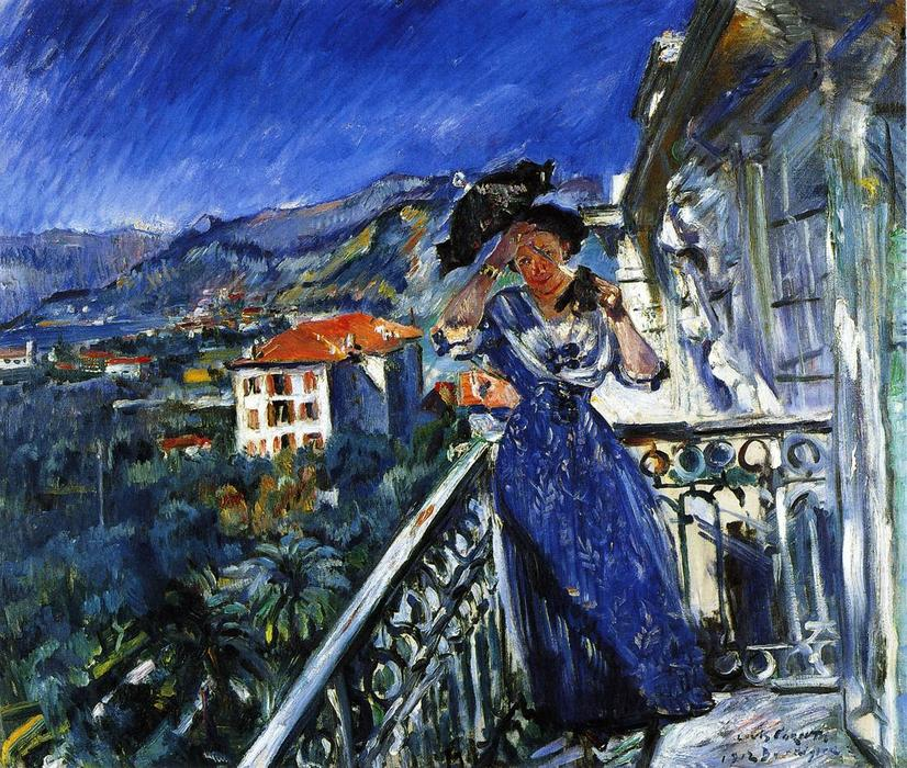 On the Balcony in Bordighera, Oil On Canvas by Lovis Corinth (Franz Heinrich Louis) (1858-1925, Netherlands)