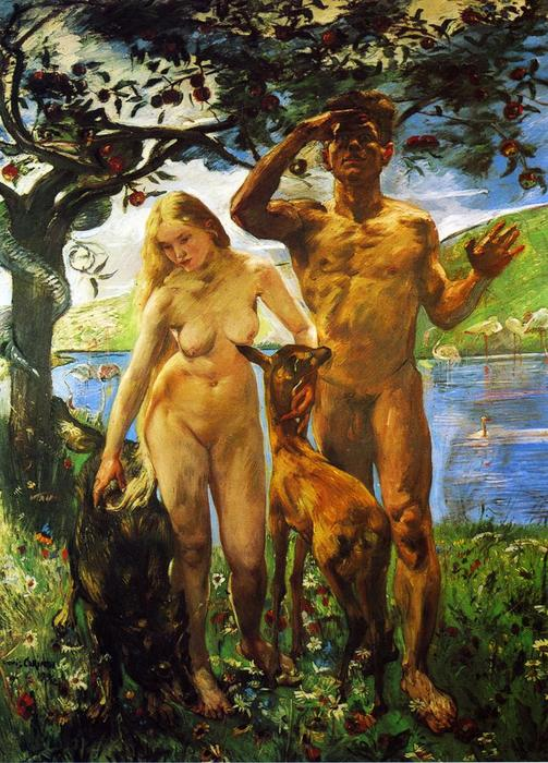 Paradise, Oil On Canvas by Lovis Corinth (Franz Heinrich Louis) (1858-1925, Netherlands)