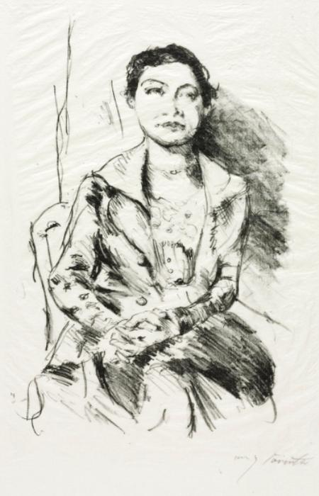 Portrait of a Young Woma by Lovis Corinth (Franz Heinrich Louis) (1858-1925, Netherlands)
