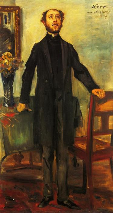 Portrait of Alfred Kerr, Oil On Canvas by Lovis Corinth (Franz Heinrich Louis) (1858-1925, Netherlands)