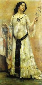 Lovis Corinth (Franz Heinrich Louis) - Portrait of Charlotte Berend in a White Dress