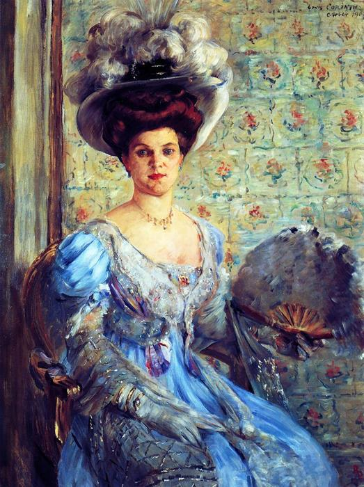 Portrait of Eleonore von Wilke, Countess Finkh, Oil On Canvas by Lovis Corinth (Franz Heinrich Louis) (1858-1925, Netherlands)