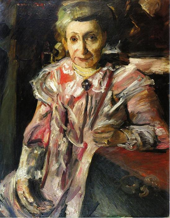 Portrait of Frau Hedwig Berend, 'Rosa Matinee', Oil On Canvas by Lovis Corinth (Franz Heinrich Louis) (1858-1925, Netherlands)
