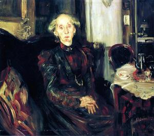 Order Museum Quality Reproductions : Portrait of Rosenhagen`s Mother, 1899 by Lovis Corinth (Franz Heinrich Louis) (1858-1925, Netherlands) | WahooArt.com