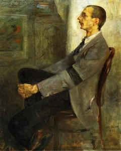 Lovis Corinth (Franz Heinrich Louis) - Portrait of the Painter Walter Leistikow