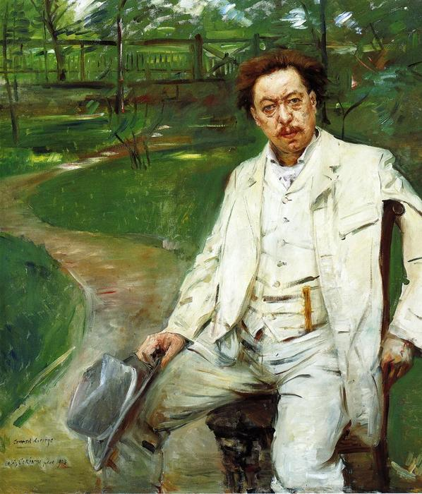 Portrait of the Pianist Conrad Ansorge, Oil On Canvas by Lovis Corinth (Franz Heinrich Louis) (1858-1925, Netherlands)