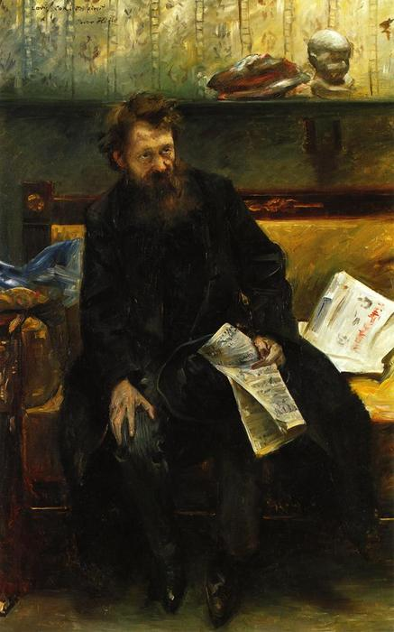 Portrait of the Poet Peter Hille, Oil On Canvas by Lovis Corinth (Franz Heinrich Louis) (1858-1925, Netherlands)