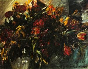 Lovis Corinth (Franz Heinrich Louis) - Red and Yellow Tulips