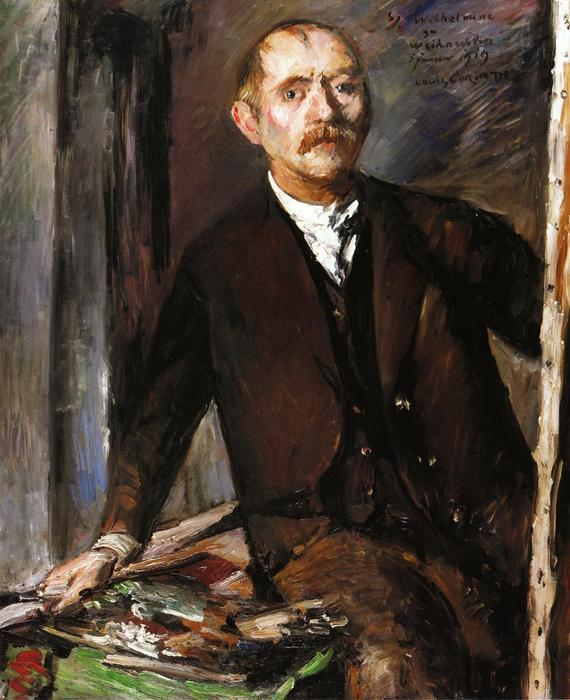 Self Portrait at the Easel 1 by Lovis Corinth (Franz Heinrich Louis) (1858-1925, Netherlands)