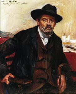 Lovis Corinth (Franz Heinrich Louis) - Self Portrait in a Black Hat