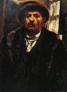 Lovis Corinth (Franz Heinrich Louis) - Self Portrait in a Fur Coat and a Fur Cap