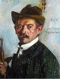 Lovis Corinth (Franz Heinrich Louis) - Self Portrait in a Tyrolean Hat