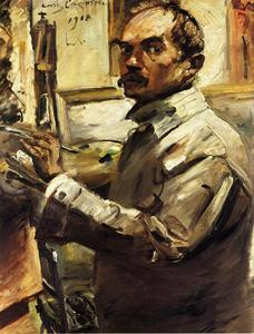 Lovis Corinth (Franz Heinrich Louis) - Self Portrait in a White Smock