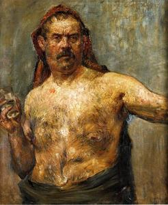 Lovis Corinth (Franz Heinrich Louis) - Self Portrait with a Glass