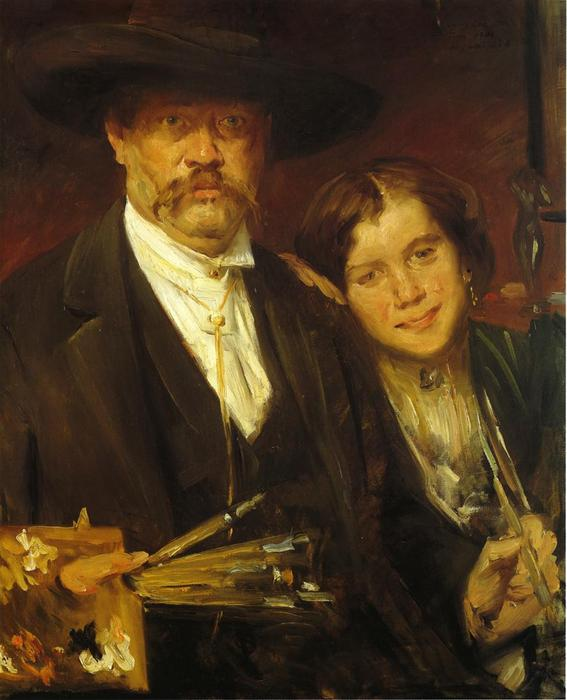 Self Portrait with Model 1 by Lovis Corinth (Franz Heinrich Louis) (1858-1925, Netherlands)