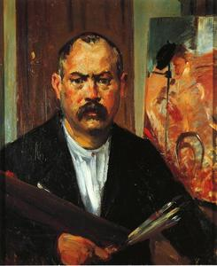 Lovis Corinth (Franz Heinrich Louis) - Self Portrait without Collar