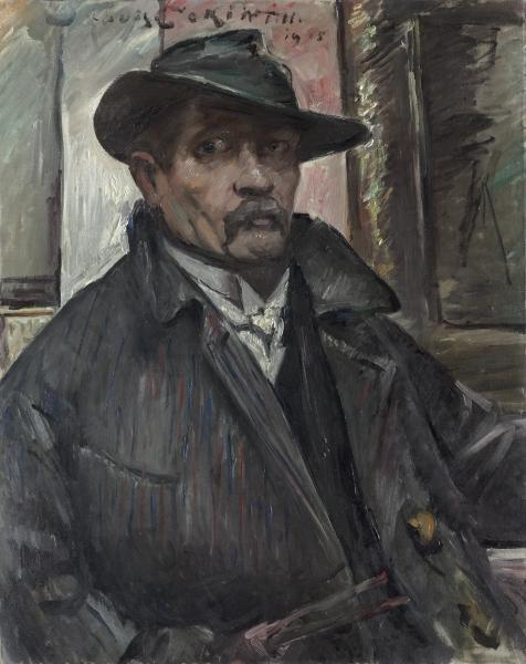 Self-Portrait with Hat and Coat by Lovis Corinth (Franz Heinrich Louis) (1858-1925, Netherlands)