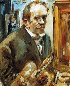 Lovis Corinth (Franz Heinrich Louis) - Self Portrait with Palette