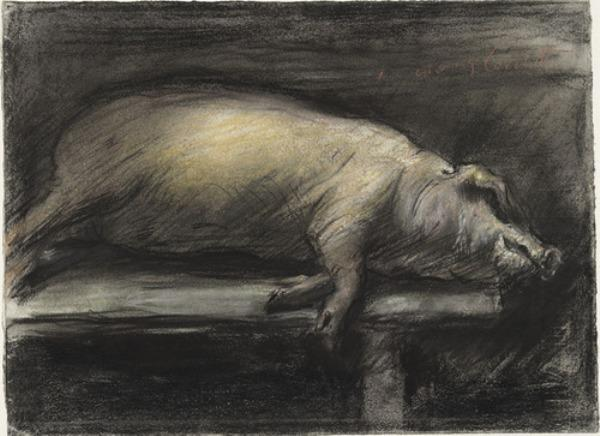 Slaughtered Pig by Lovis Corinth (Franz Heinrich Louis) (1858-1925, Netherlands)