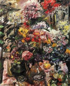 Lovis Corinth (Franz Heinrich Louis) - Still Life with Chrysanthemums and Amaryllis