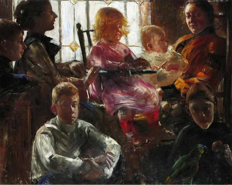 The Family of the Painter Fritz Rumpf, Oil On Canvas by Lovis Corinth (Franz Heinrich Louis) (1858-1925, Netherlands)
