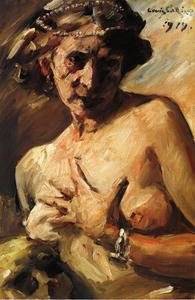 Lovis Corinth (Franz Heinrich Louis) - The Magdalen with Pearls in Her Hair