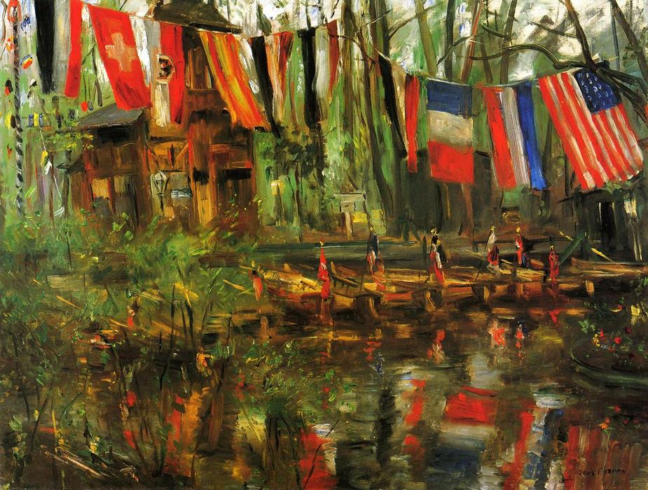 The New Pond in the Tiergarten, Berlin, 1908 by Lovis Corinth (Franz Heinrich Louis) (1858-1925, Netherlands) | Painting Copy | WahooArt.com