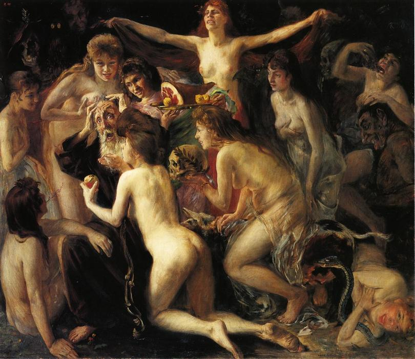 The Temptation of Saint Anthony, Oil On Canvas by Lovis Corinth (Franz Heinrich Louis) (1858-1925, Netherlands)