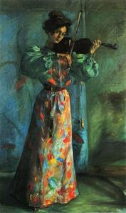 Lovis Corinth (Franz Heinrich Louis) - The Violinist