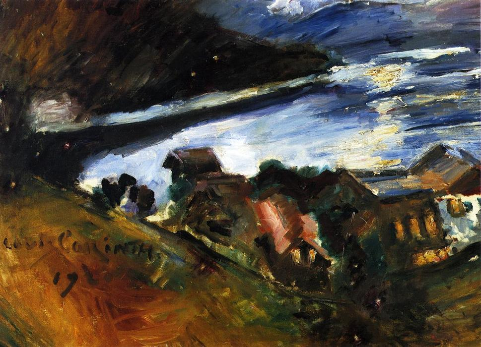 The Walchensee in the Moonlight, Oil On Canvas by Lovis Corinth (Franz Heinrich Louis) (1858-1925, Netherlands)