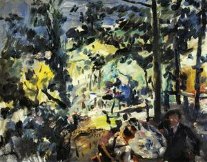 Lovis Corinth (Franz Heinrich Louis) - The Walchensee, On the Terrace