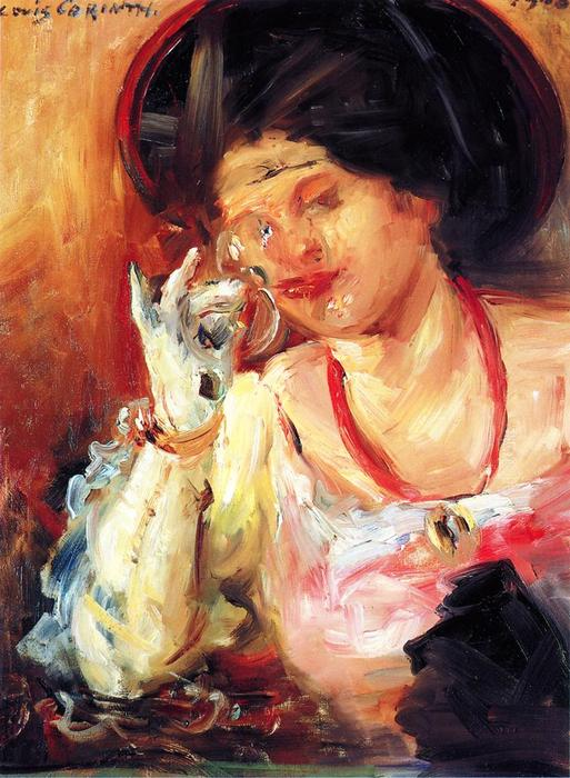 Woman with a Glass of Wine, Oil On Canvas by Lovis Corinth (Franz Heinrich Louis) (1858-1925, Netherlands)