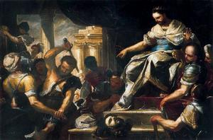 Luca Giordano - David punishes the murderers of Ishbaal