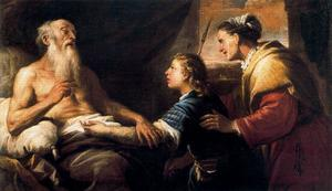 Luca Giordano - Isaac blesses Jacob