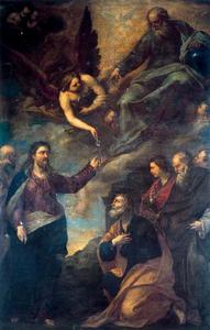 Luca Giordano - Meeting of Saints Peter and Paul led to the martyrdom