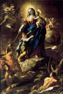 Luca Giordano - Our Lady of Help