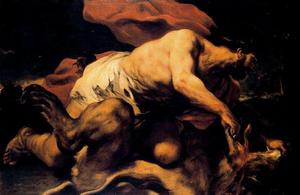 Luca Giordano - Samson and the Lion