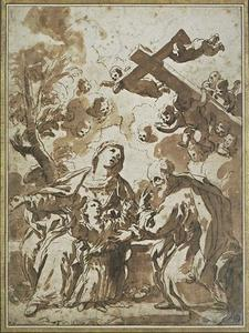 Luca Giordano - The cross of Christ child surrounded by Mary and Joseph