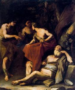 Luca Giordano - The drunkenness of Noah