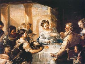 Luca Giordano - The feast of Herod