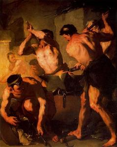 Luca Giordano - The Forge of Vulcan 1