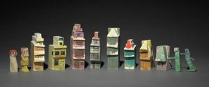 Lyonel Feininger - Group of Twelve Carved and Painted Objects