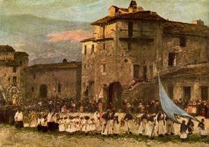 Mariano Barbasan - The procession on the day of San Pedro