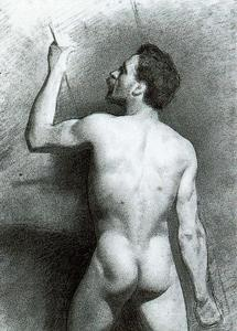 Mariano Fortuny - Male Nude from the Back