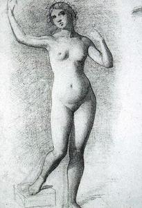 Mariano Fortuny - Study of a female nude