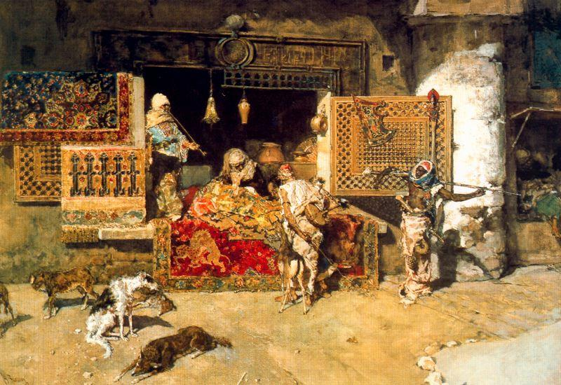 The carpet seller by Mariano Fortuny (1871-1949, Spain) |  | WahooArt.com